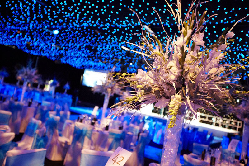 gala dinner table centres